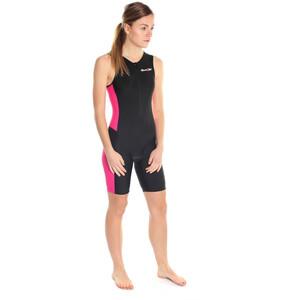 Dare2Tri Frontzip Trisuit Damen black/pink black/pink