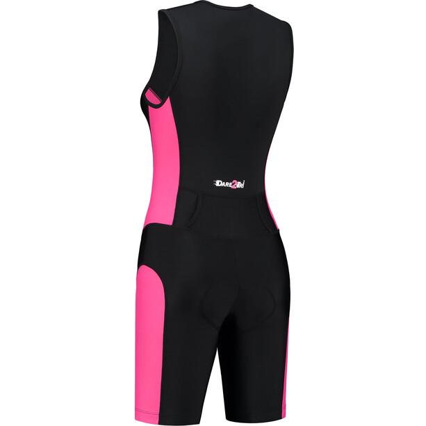 Dare2Tri Frontzip Trisuit Damen schwarz/pink
