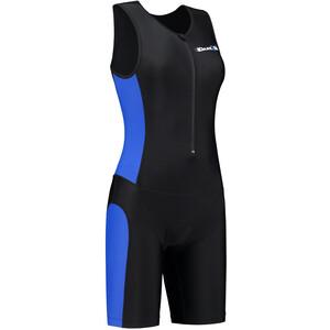 Dare2Tri Frontzip Trisuit Damen schwarz/blau schwarz/blau