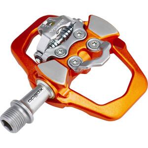 Xpedo Traverse Duo Pedale orange/silber orange/silber