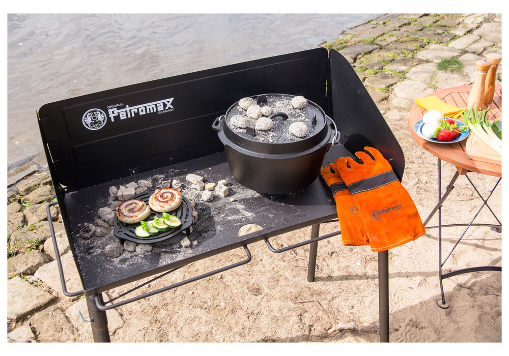 petromax table pour marmites barbecue fe90 noir sur. Black Bedroom Furniture Sets. Home Design Ideas