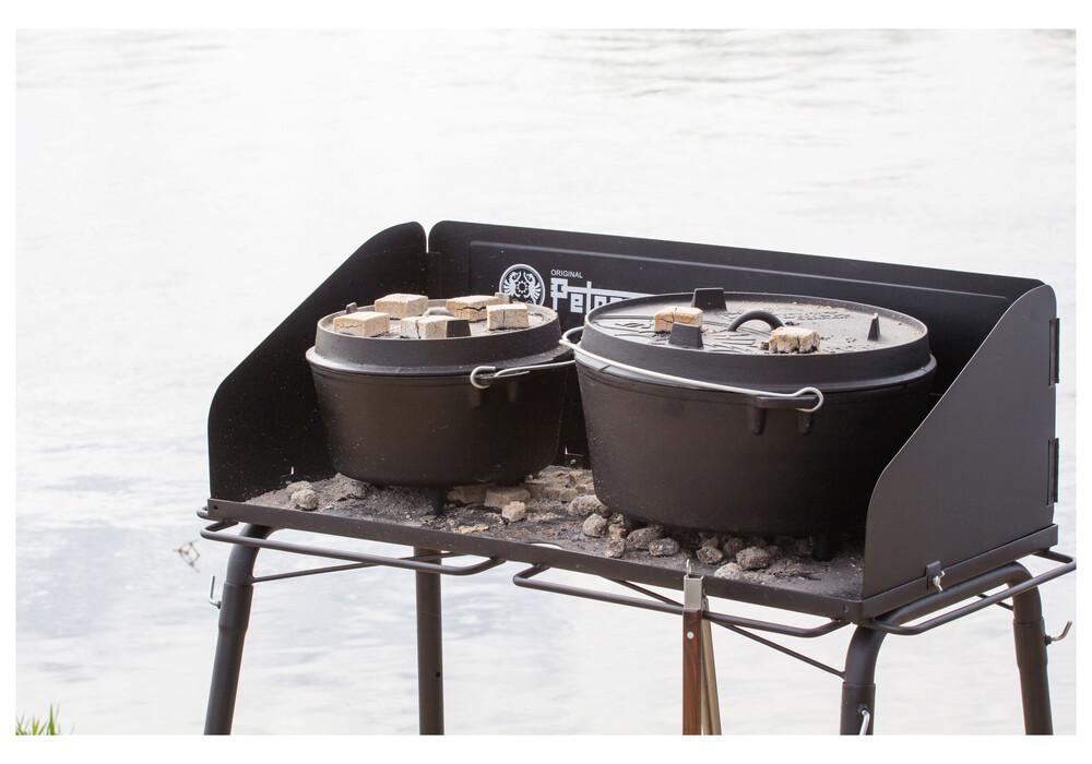 Petromax mesa para barbacoa barbacoas fe90 negro - Mesa para barbacoa ...