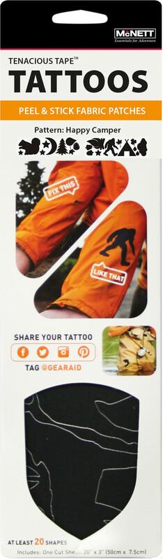 GEAR AID Tenacious Reparatur Tattoos Happy Camper Zeltpflege & -reparatur 762310