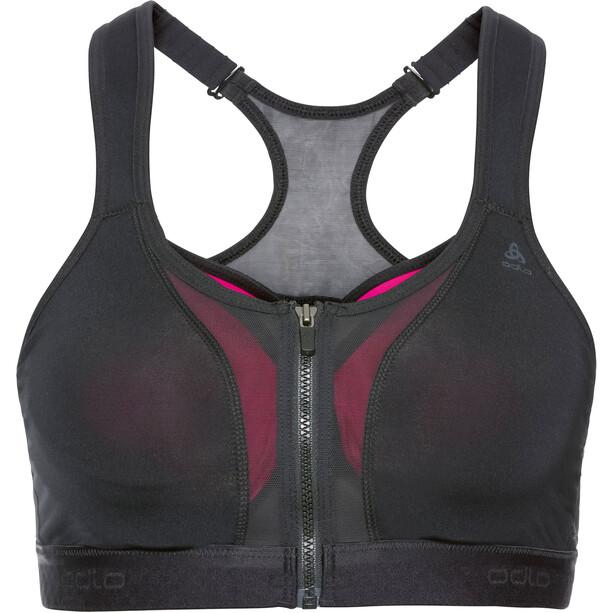 Odlo Double High Sport BH Damen black/beetroot purple