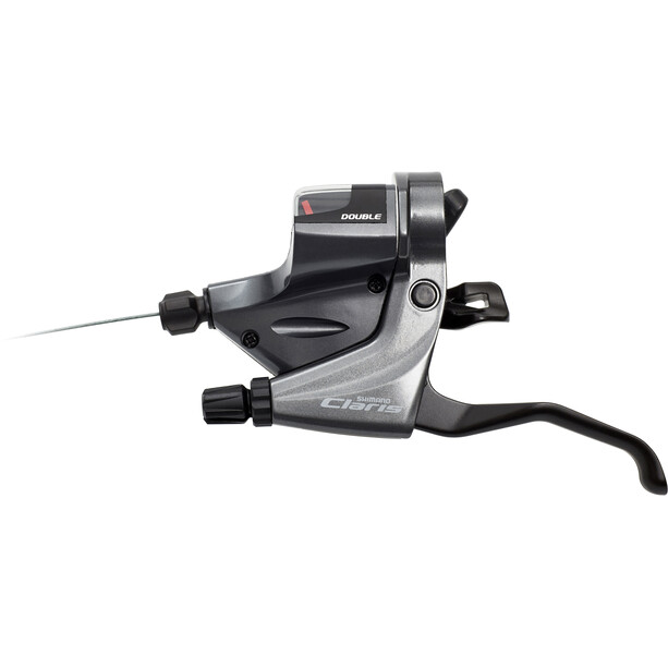 Shimano Claris ST-RS200/-RS203 Gear/Brake Lever venstre, 2-delt grey