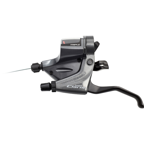 Shimano Claris ST-RS200/-RS203 Gear/Brake Lever left 3-speed grey