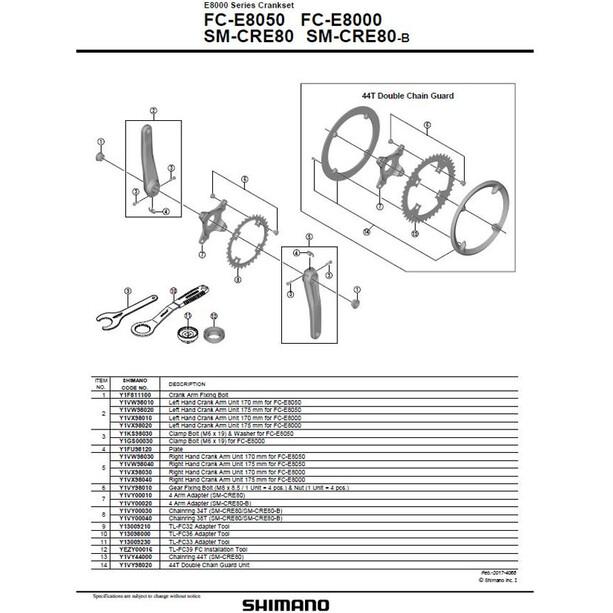 Shimano Steps FC-E8050 Crank Set