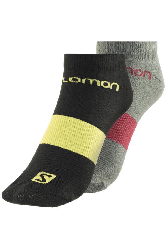 Salomon Life Low Socks 2 Pack beluga/black  2017 Laufsocken, Gr. XL   45-47