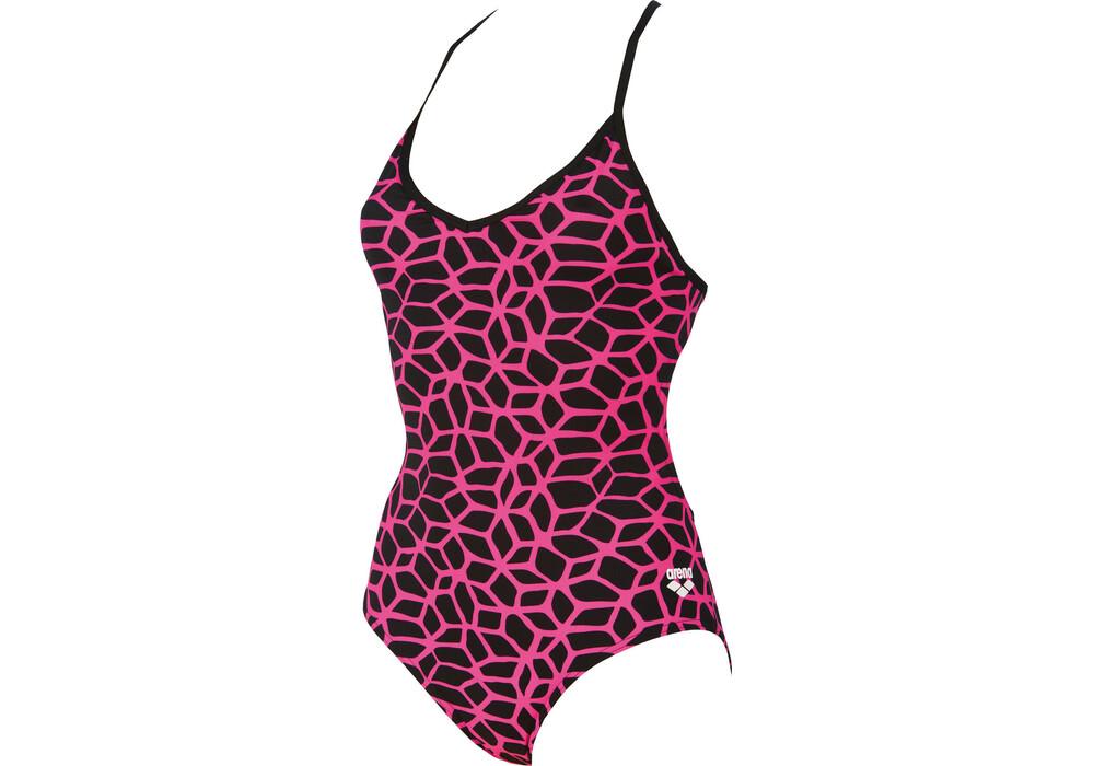 Arena carbonics l costume da bagno donne rosa nero - Donne senza costume da bagno ...