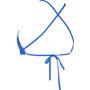arena Solid Tie Back Top Damen royal-white