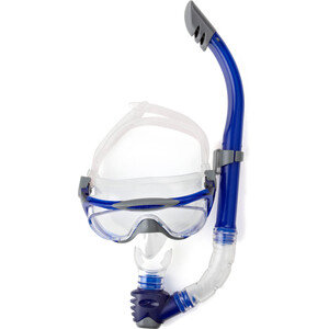 speedo Glide Mask Snorkel Set grey/blue grey/blue