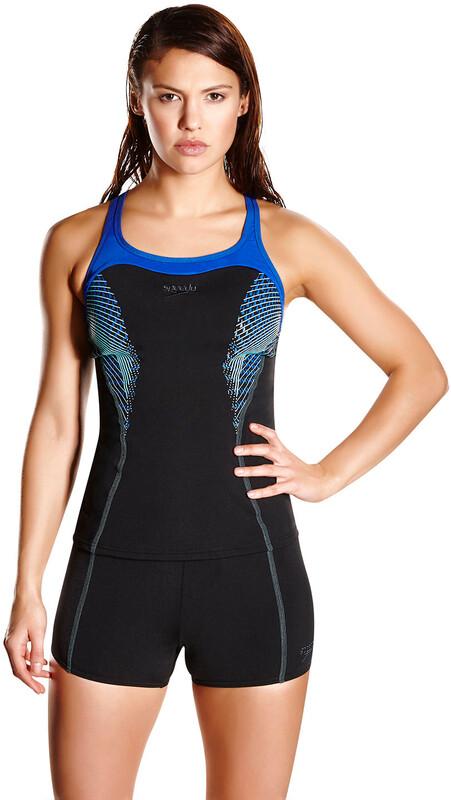 Fit Tankini Kickback Women Black/Beautiful Blue/Spearmint DE 32   US 28 2018 Schwimmanzüge & Bikinis