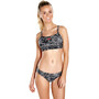 speedo Boom Allover 2 Piece Bikini Dame black/white