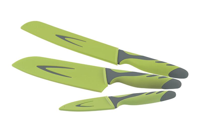 Outwell Knife Set grey/green Kochbesteck 650251
