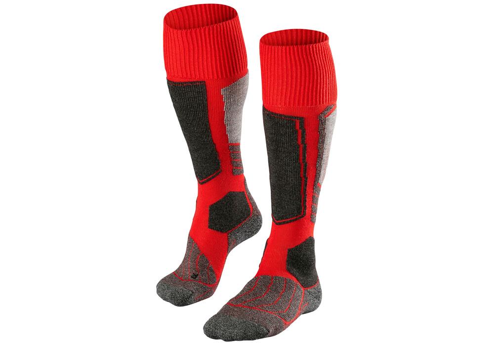 falke sk1 chaussettes homme rouge noir sur. Black Bedroom Furniture Sets. Home Design Ideas