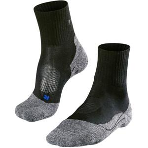Falke TK2 Cool Calcetines cortos trekking Hombre, negro/gris negro/gris