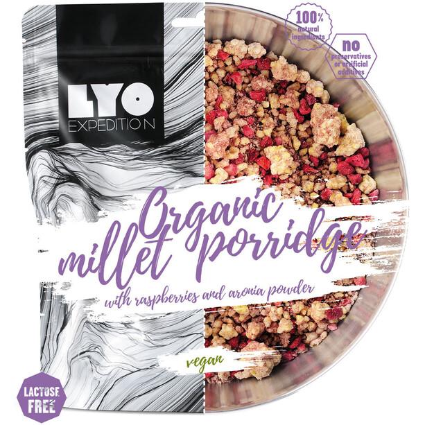 Lyofood Organic Millet Porridge Raspberries/Aronia Powder Double Size 184g