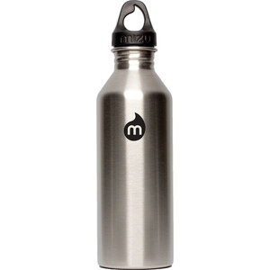 MIZU M8 Flasche with Black Print & Loop Cap 800ml Stainless Stainless