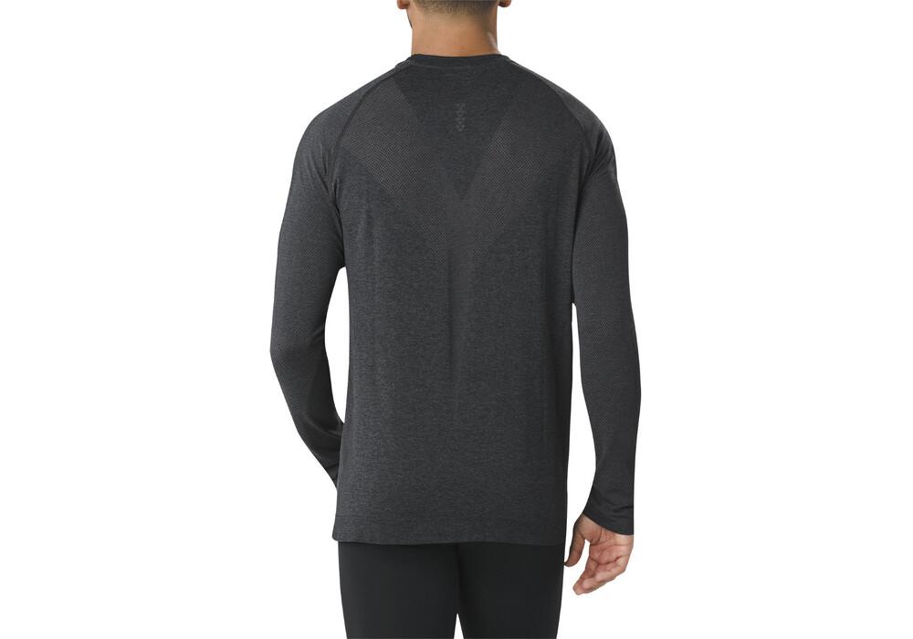 asics seamless ls shirt men performance black. Black Bedroom Furniture Sets. Home Design Ideas