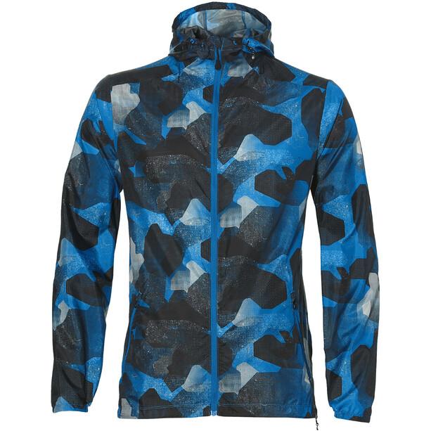 asics fuzeX Packable Jacke Herren camo geo directoire blue