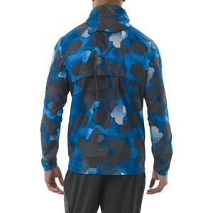 asics fuzeX Packable Jacke Herren camo geo directoire blue camo geo directoire blue