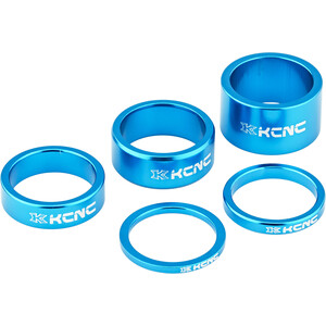 "KCNC Headset Spacer 1 1/8"" 3/5/10/14/20mm blau blau"