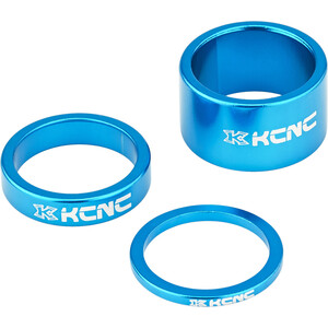 """KCNC Headset Spacer 1 1/8"""" 3/8/20mm, blauw blauw"""