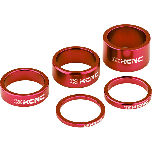 """KCNC Headset Spacer 1 1/8"""" 3/5/10/14/20mm rot"""