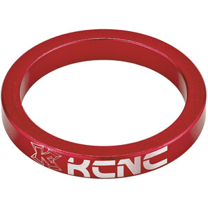 "KCNC Headset Spacer 1 1/8"" 5mm red red"