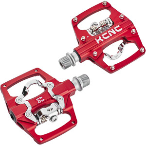 KCNC AM Trap Klickpedale Dual Side red red