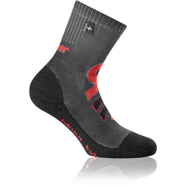 Rohner Hiking Socken Kinder grau/rot