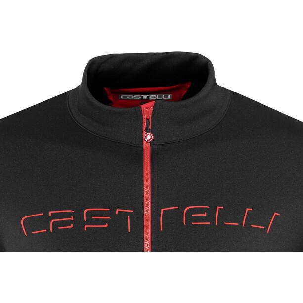 Castelli Fondo Full-Zip Langarm Trikot Herren black/red