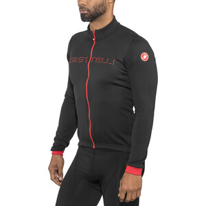 Castelli Fondo Full-Zip LS Jersey Men black/red black/red