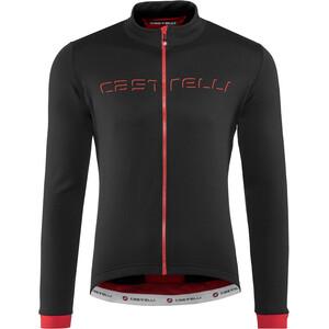 Castelli Fondo Full-Zip LS-trøye Herre black/red black/red