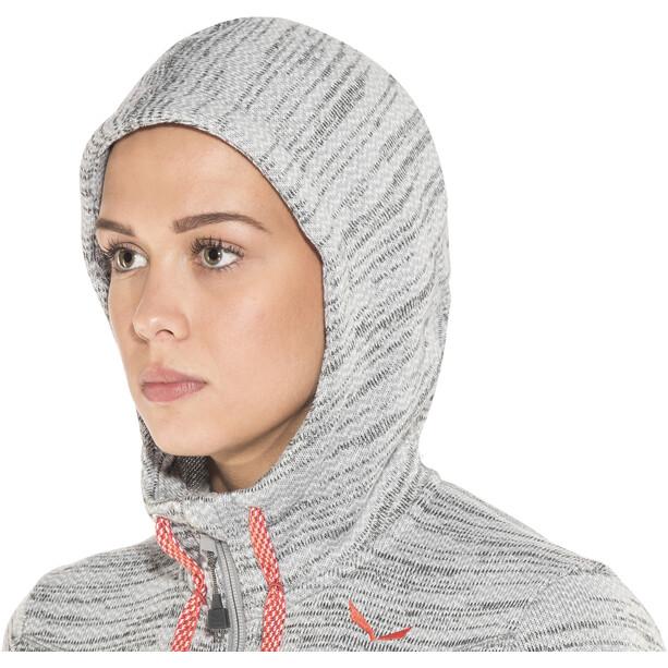 SALEWA Fanes PL Full-Zip Hoodie Damen grau