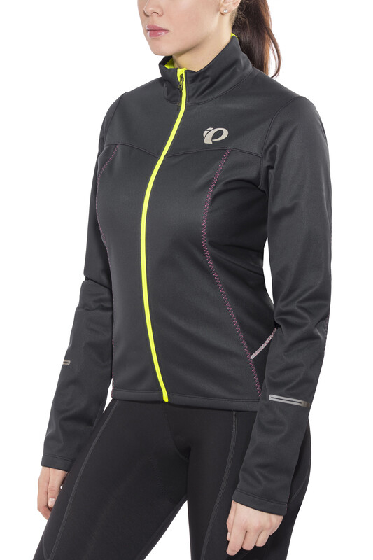 PEARL iZUMi Select Escape Softshell Jacket Women Black/Screaming Yellow  2017 Fa