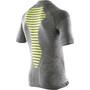 X-Bionic Apani Merino Zip Kurzarmshirt Herren black/grey/yellow