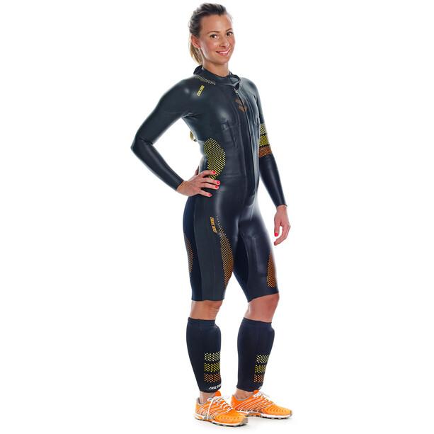 Colting Wetsuits SC02 Extreme Float Plus Svøm kalve, sort/gul