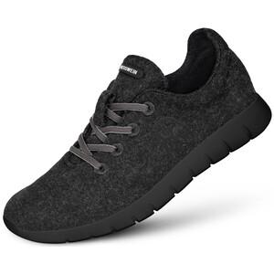Giesswein Merino Wool Chaussures de running Femme, noir noir
