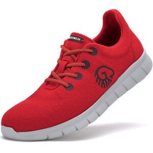 Giesswein Merino Wool Chaussures de running Femme, rouge rouge