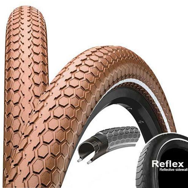 "Continental Ride Cruiser E-25 Clincher Tyre 26"" Reflex, brown"