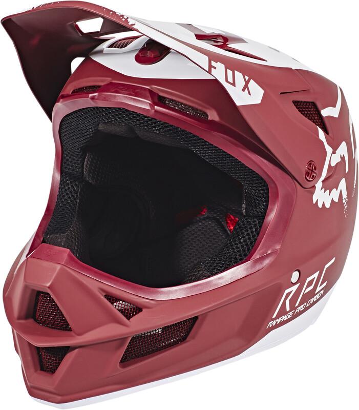 Fox Rampage Pro Carbon Moth Helmet Men Dark Red M   57-58 2018 Fahrradhelme