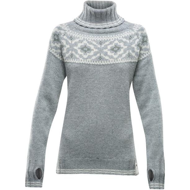Devold Ona Round Sweat-Shirt Femme, gris/beige