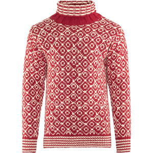 Devold Svalbard High Neck Couche intermédiaire, rouge/blanc rouge/blanc