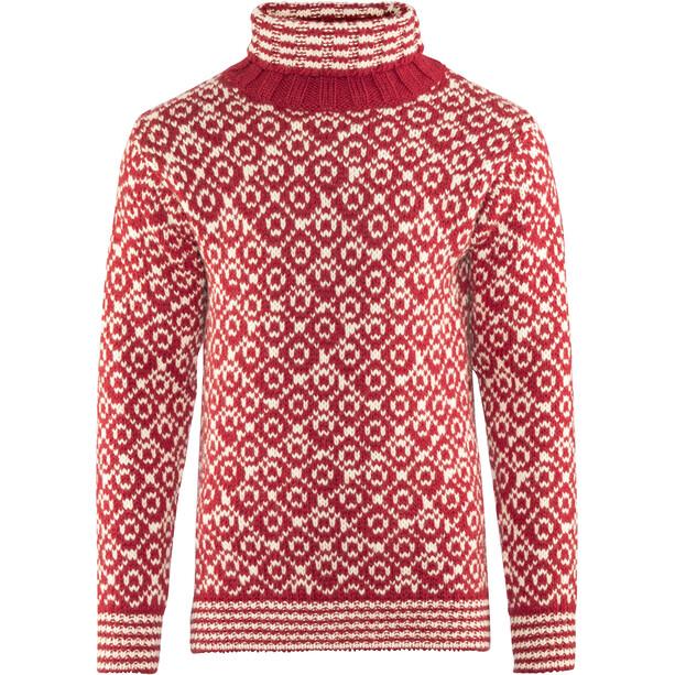 Devold Svalbard High Neck Sweater Herren hindberry/offwhite