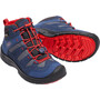 Keen Hikeport Mid WP Schuhe Kinder dress blues/firey red