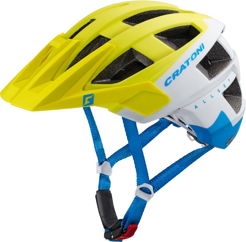 Cratoni AllSet Helmet lime-white-blue matt S/M | 54-58cm 2017 Fahrradhelme, Gr.