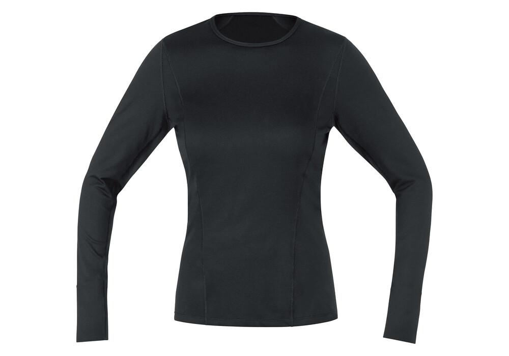 gore running wear essential base layer sous v tement de sport femme noir boutique de v los. Black Bedroom Furniture Sets. Home Design Ideas