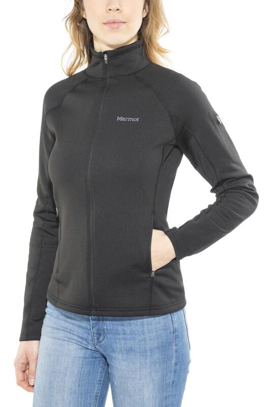 Stretch Fleece Jacket Women Black M 2017 Fleecejacken