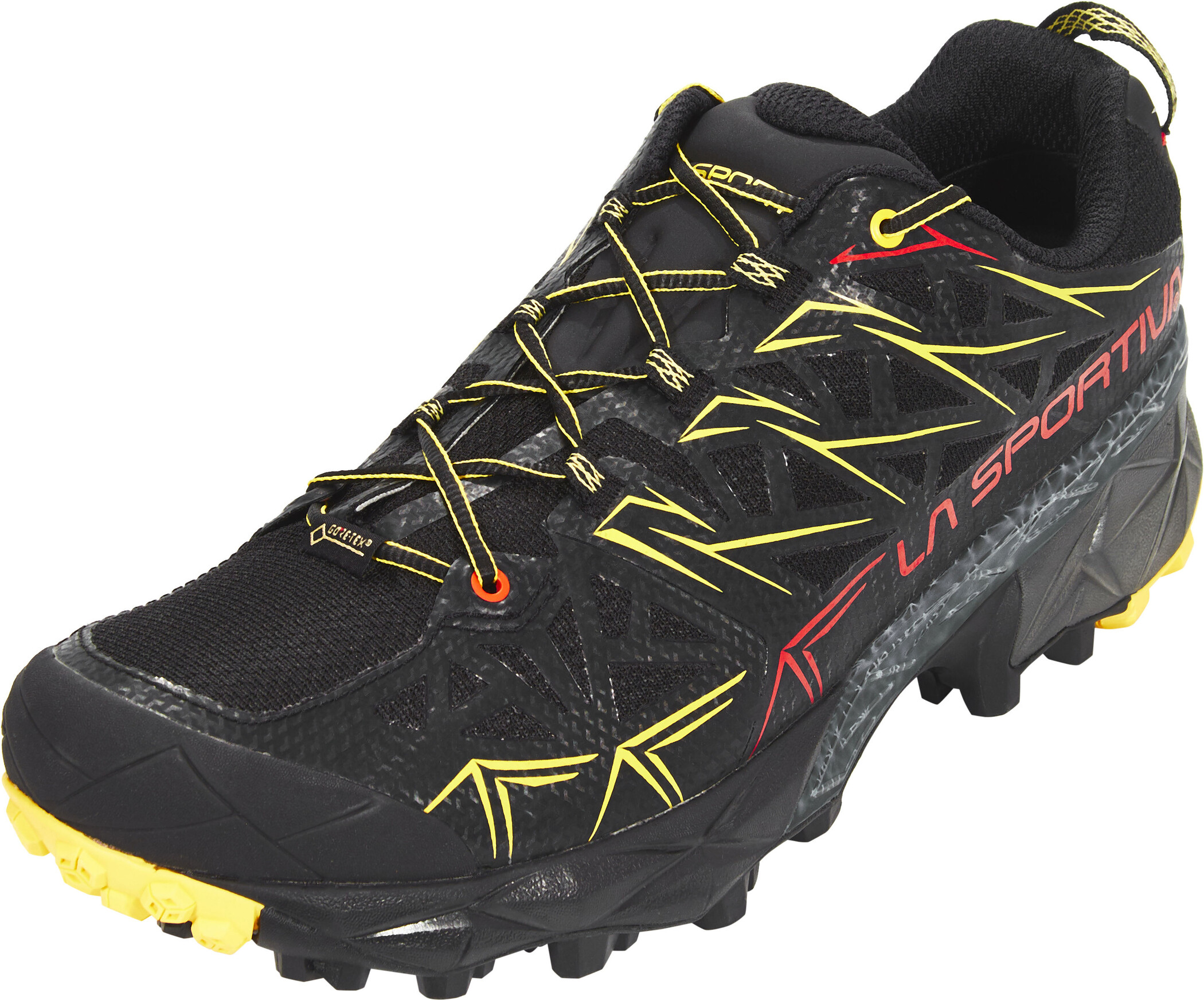 La Sportiva Mens Akyra Trail Running Shoes Trainers Sneakers Black Blue Sports
